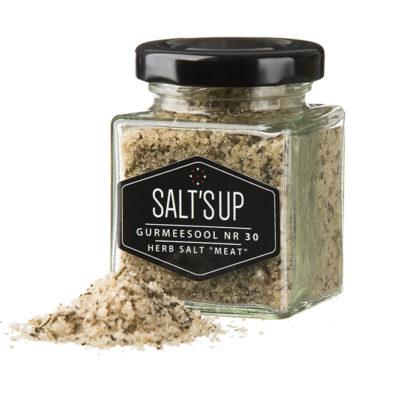 """Maitsetaimedega sool """"MEAT"""" coarse nr 30"""