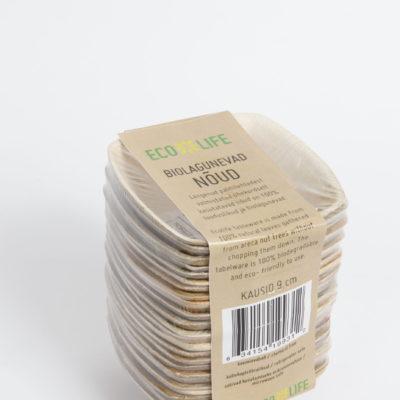Palmilehtedest kastmekausid 9cm, 25tk pakis