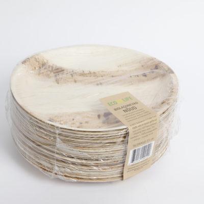 Palmilehtedest taldrikud 23cm, 25tk pakis